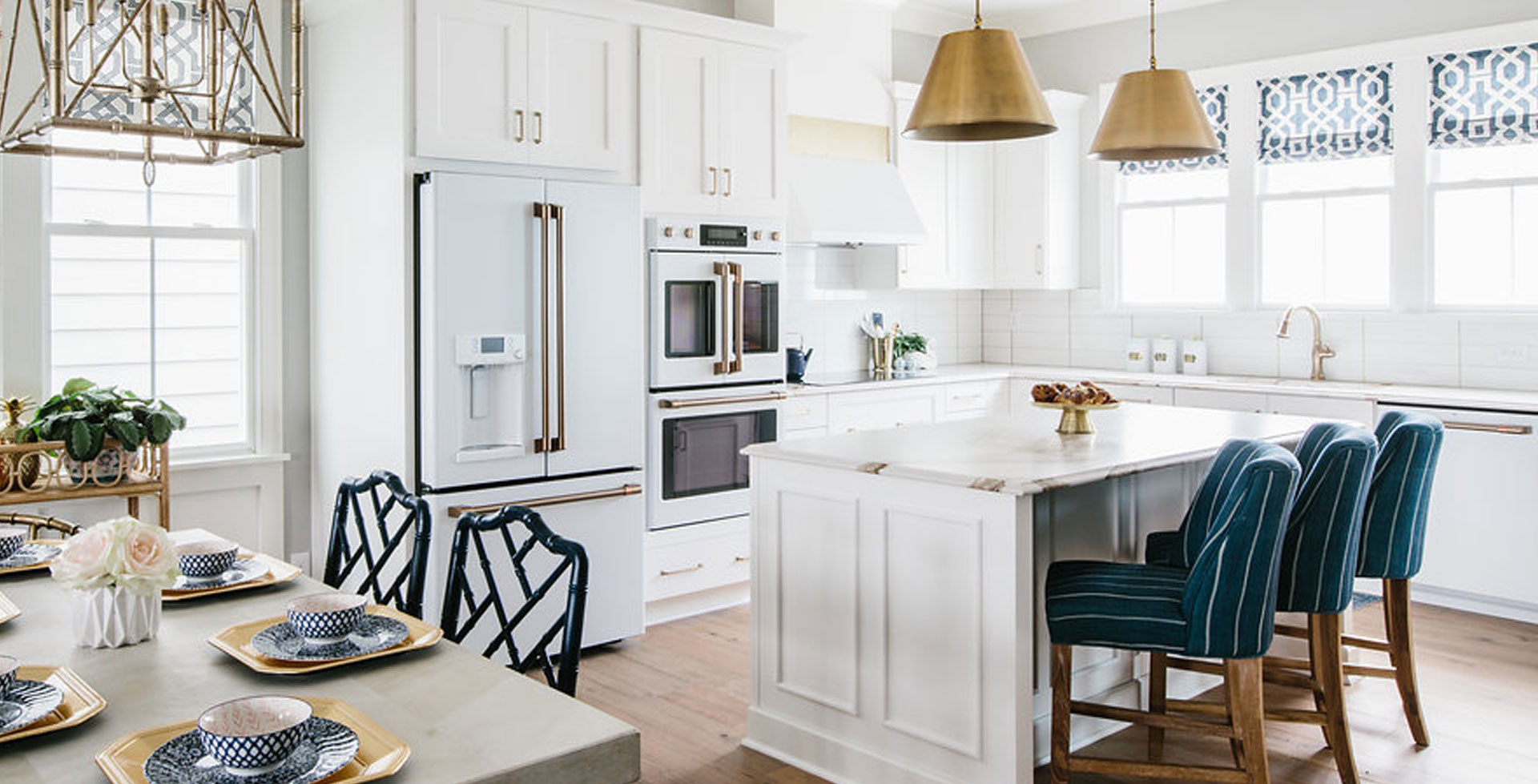 matte white kitchen suite with white cabinets